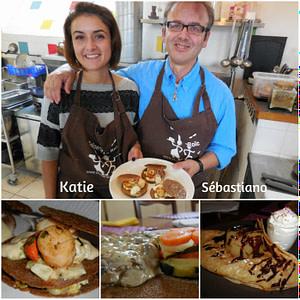 Katie et Sébastiano chez Le Roïc